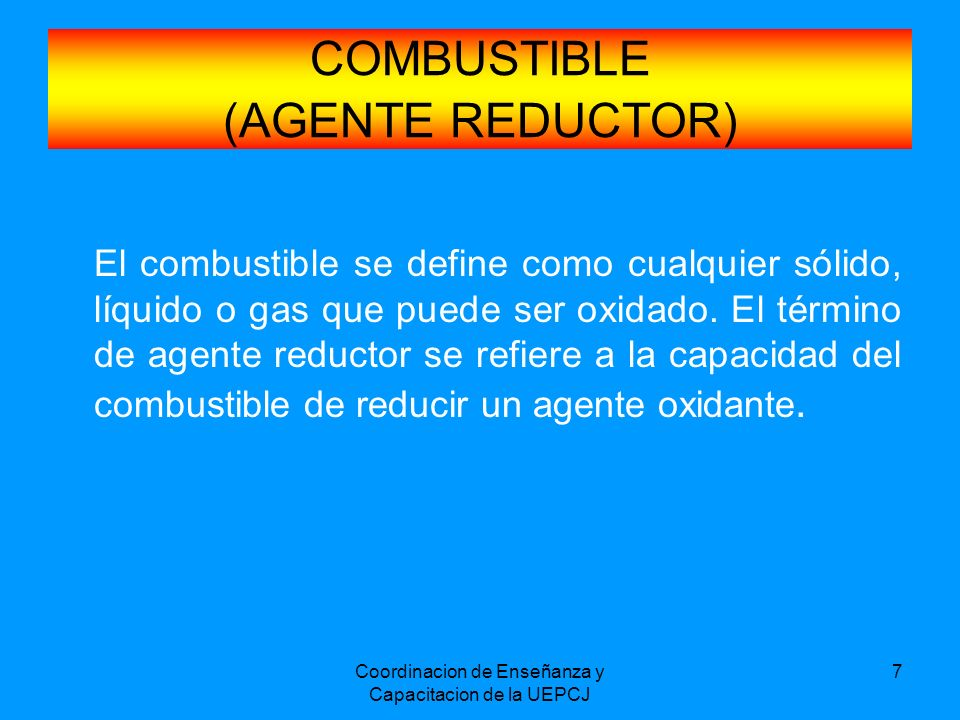 COMBUSTIBLE (AGENTE REDUCTOR)