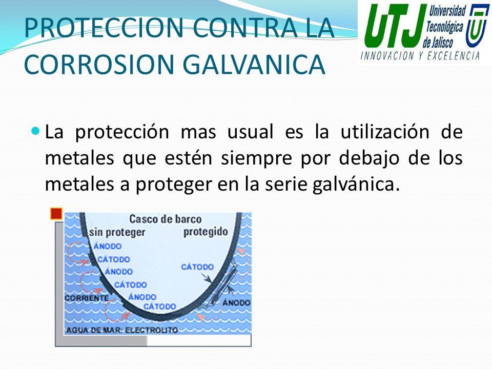 PROTECCION CONTRA LA CORROSION GALVANICA