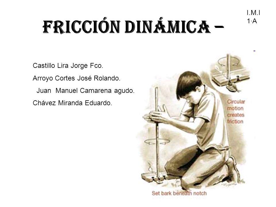 Fricción Dinámica – I.M.I 1·A Castillo Lira Jorge Fco.