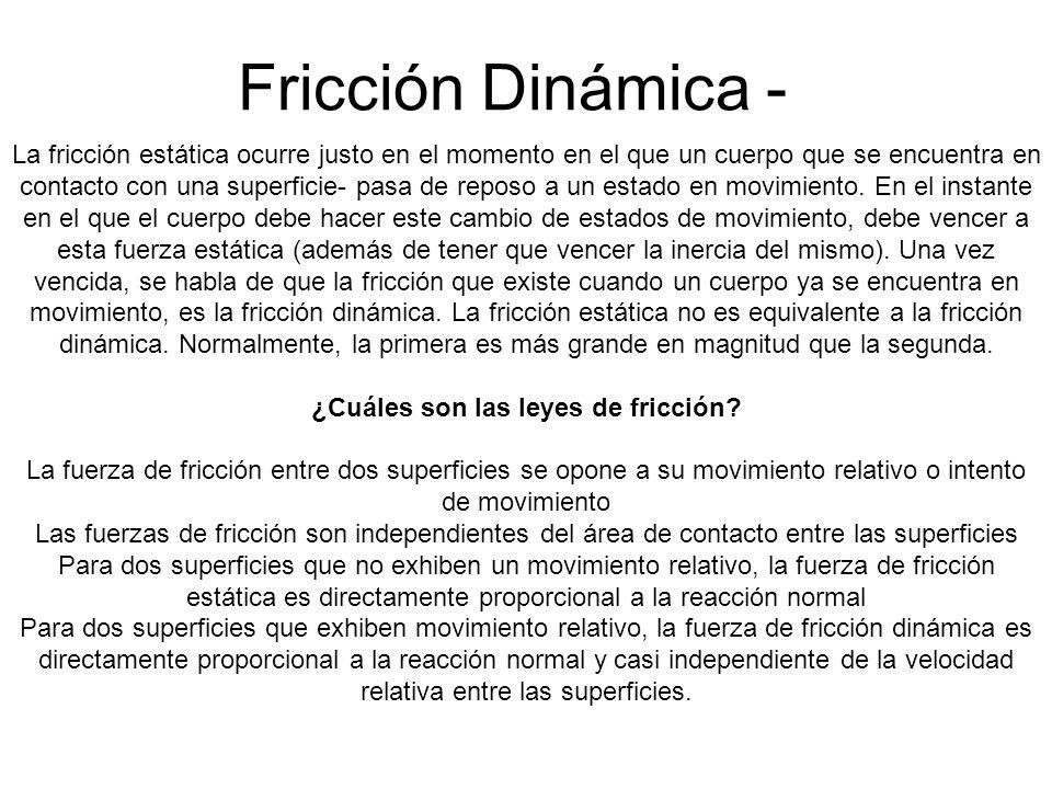 ¿Cuáles son las leyes de fricción