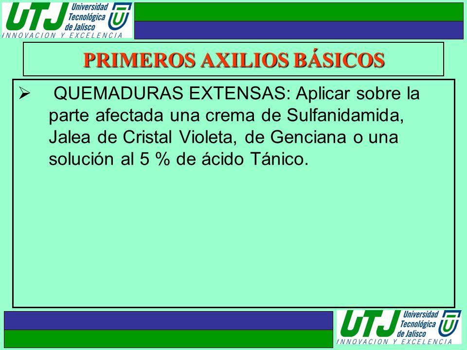 PRIMEROS AXILIOS BÁSICOS