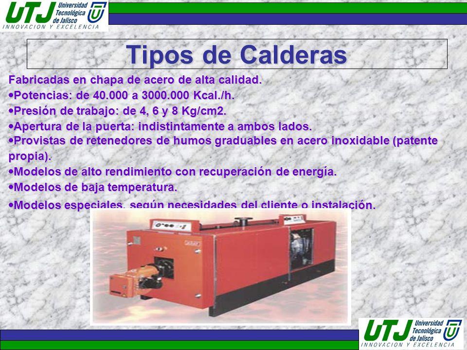 Tipos de Calderas Fabricadas en chapa de acero de alta calidad.