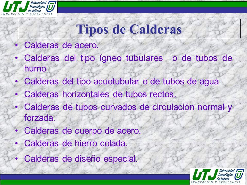 Tipos de Calderas Calderas de acero.