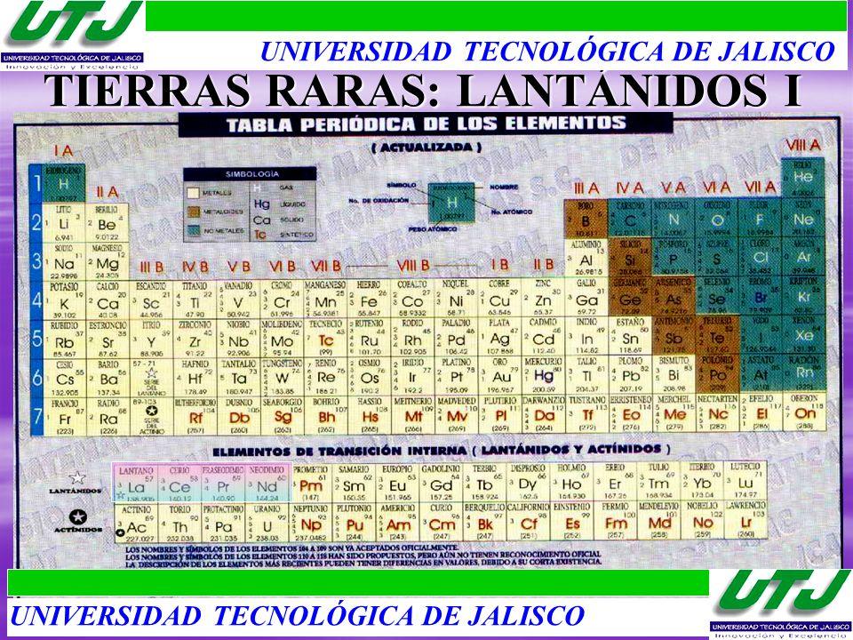 TIERRAS RARAS: LANTÁNIDOS I