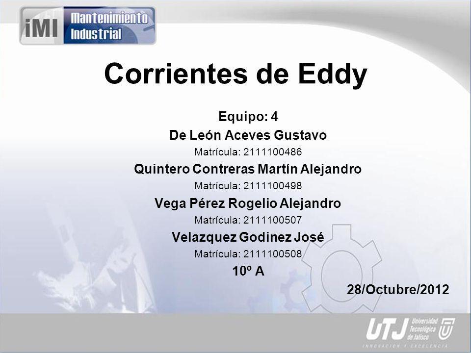 Corrientes de Eddy Equipo: 4 De León Aceves Gustavo