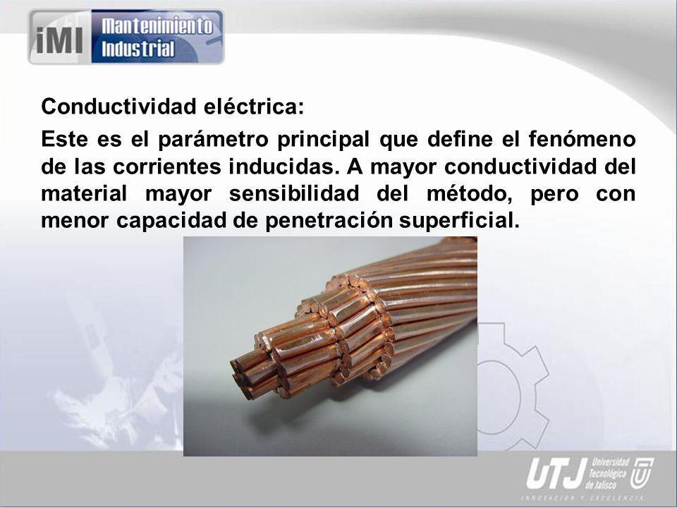 Conductividad eléctrica: Este es el parámetro principal que define el fenómeno de las corrientes inducidas.
