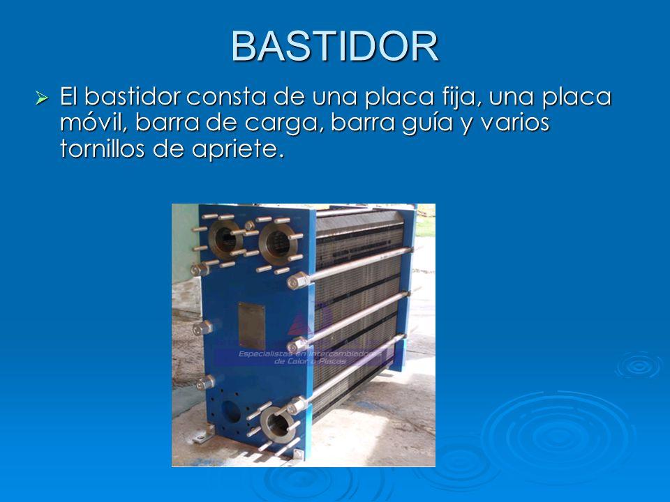 BASTIDOR El bastidor consta de una placa fija, una placa móvil, barra de carga, barra guía y varios tornillos de apriete.
