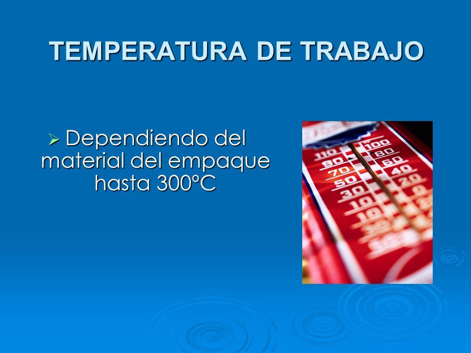 TEMPERATURA DE TRABAJO