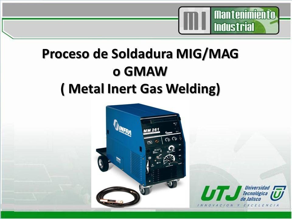 Proceso de Soldadura MIG/MAG o GMAW ( Metal Inert Gas Welding)