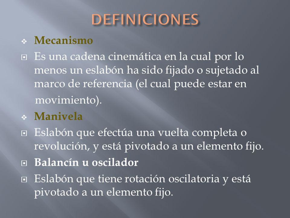 DEFINICIONES Mecanismo