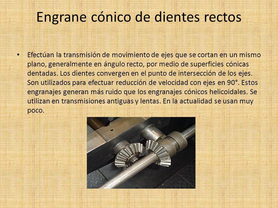 Engrane cónico de dientes rectos