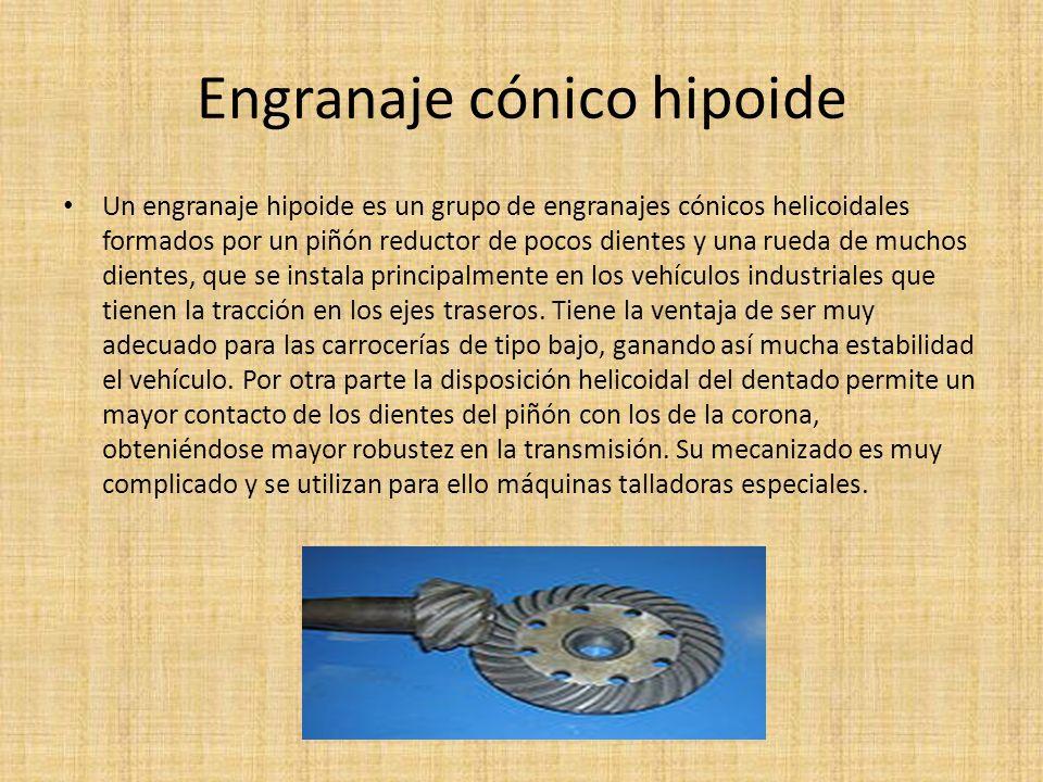 Engranaje cónico hipoide