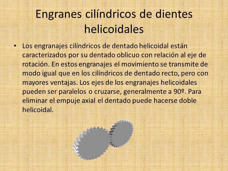 Engranes cilíndricos de dientes helicoidales