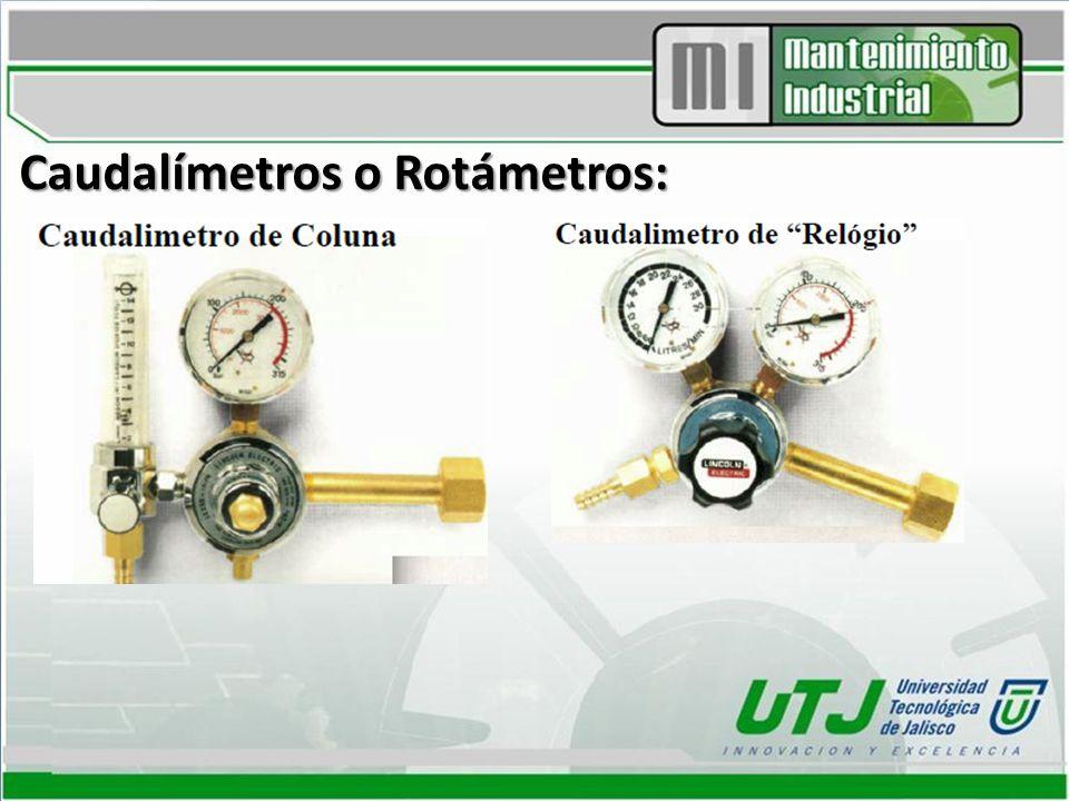 Caudalímetros o Rotámetros: