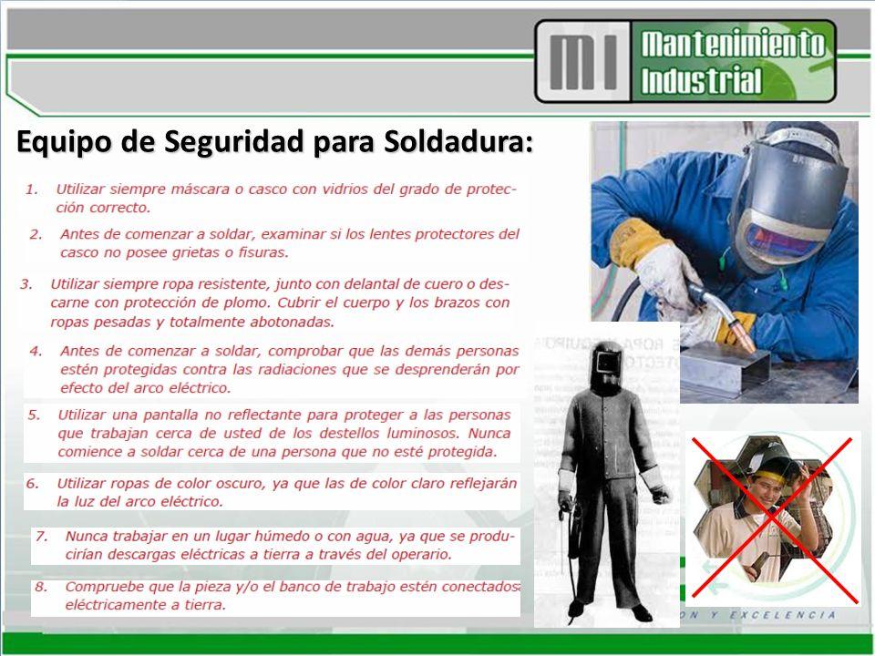 Equipo de Seguridad para Soldadura:
