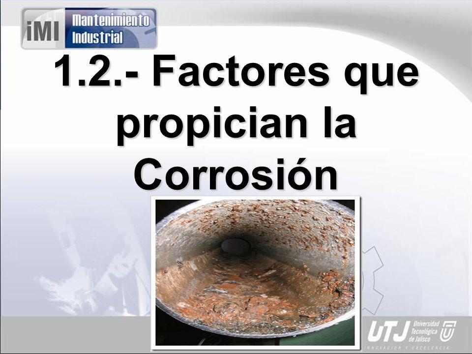 1.2.- Factores que propician la Corrosión