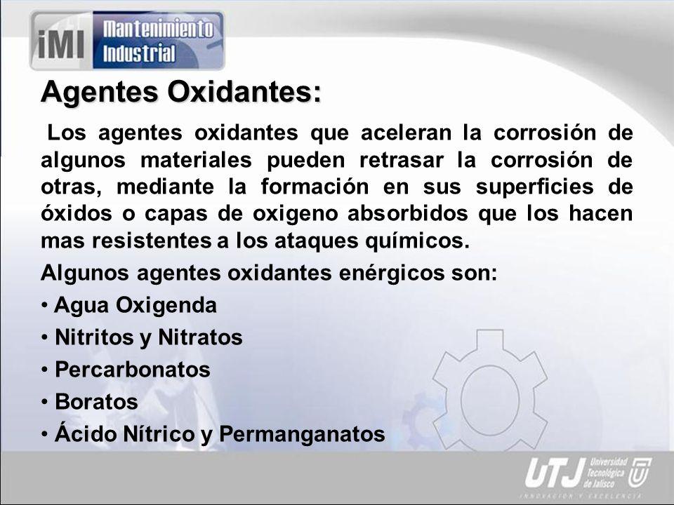 Agentes Oxidantes: