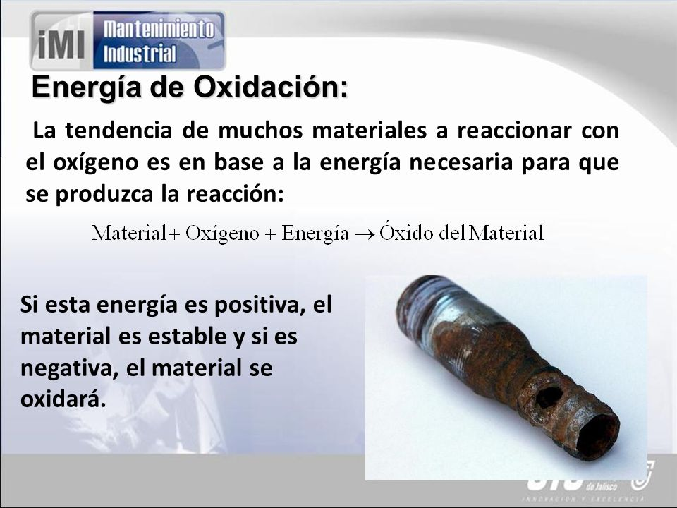 Energía de Oxidación: