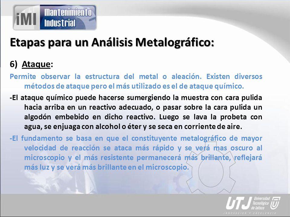 Etapas para un Análisis Metalográfico: