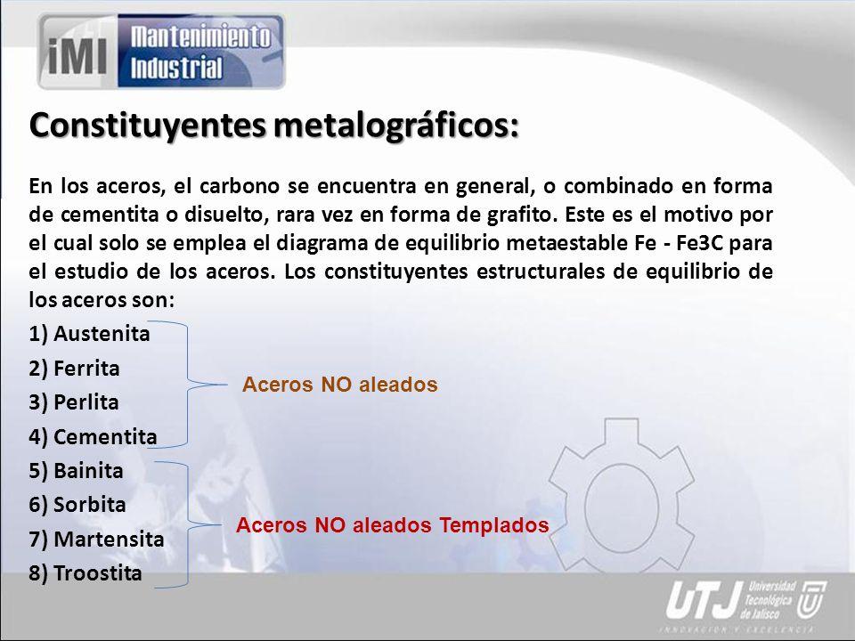 Constituyentes metalográficos: