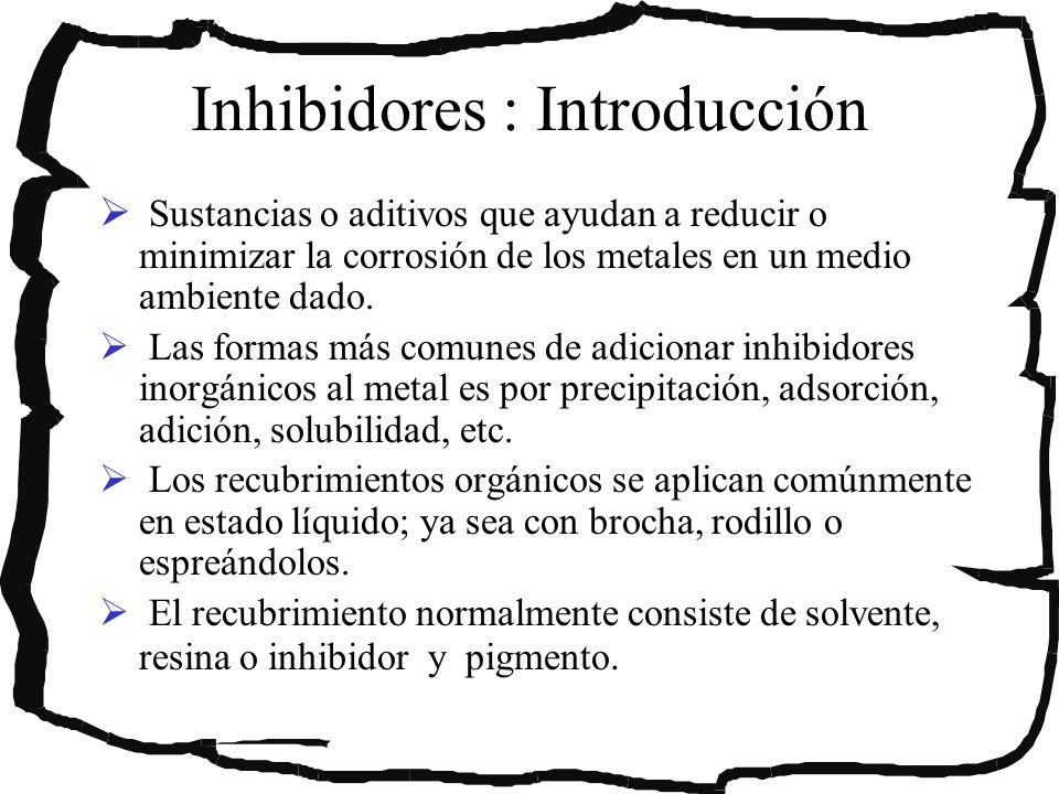 Inhibidores : Introducción