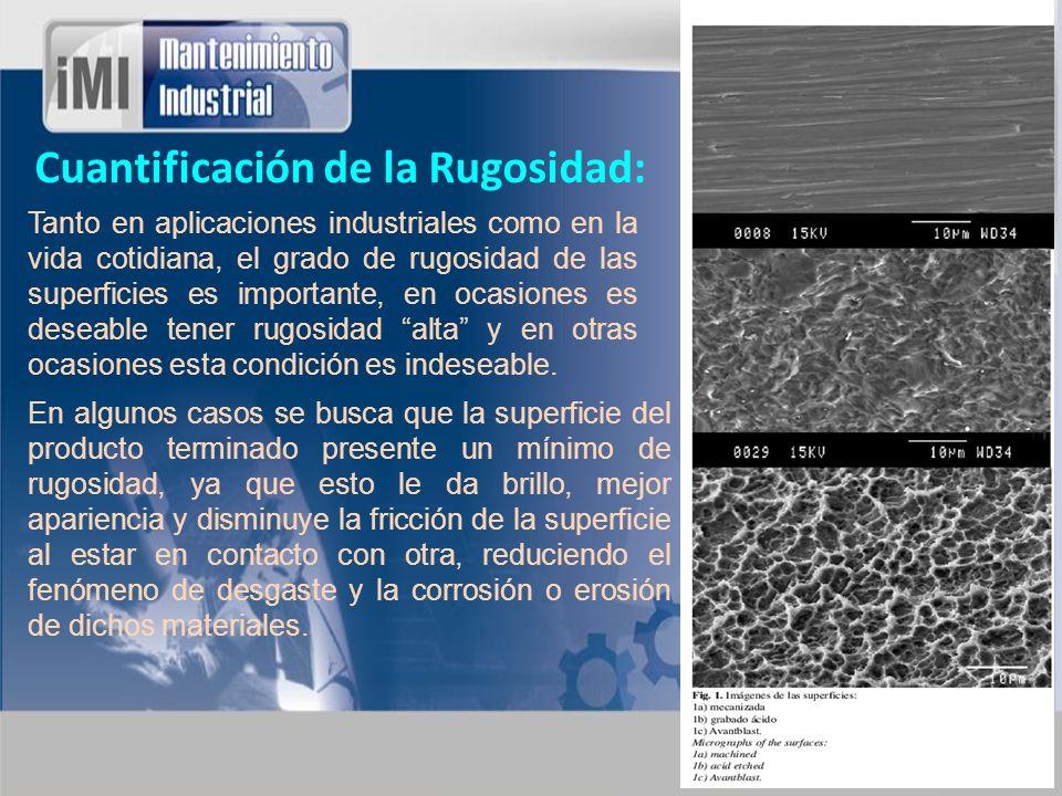 Cuantificación de la Rugosidad: