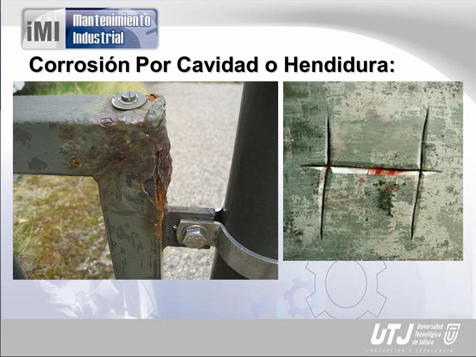 Corrosión Por Cavidad o Hendidura: