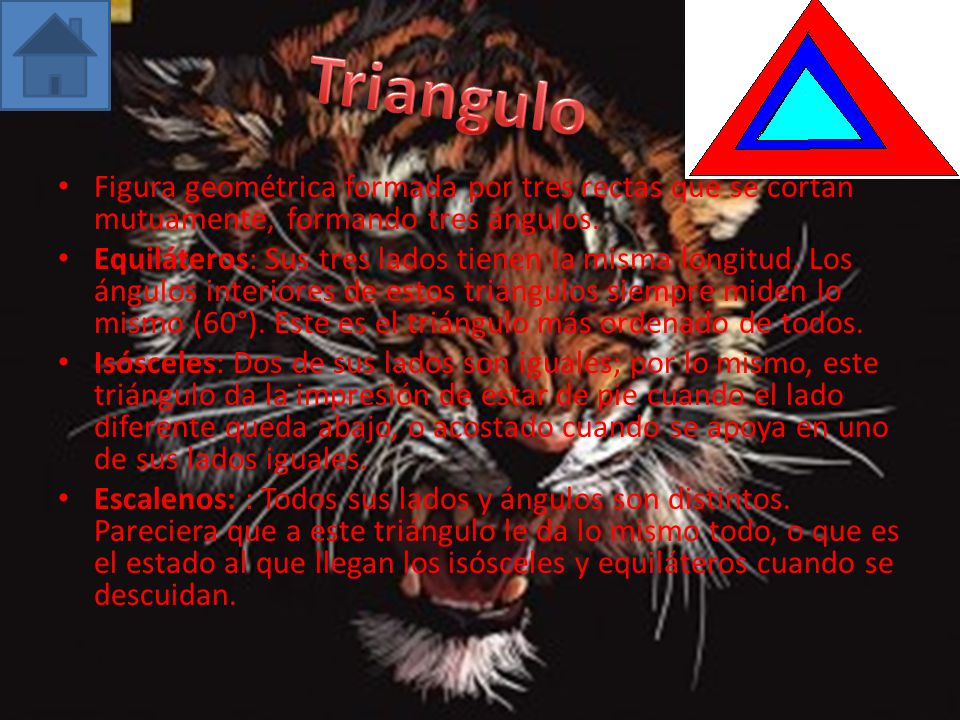 Triangulo Figura geométrica formada por tres rectas que se cortan mutuamente, formando tres ángulos.