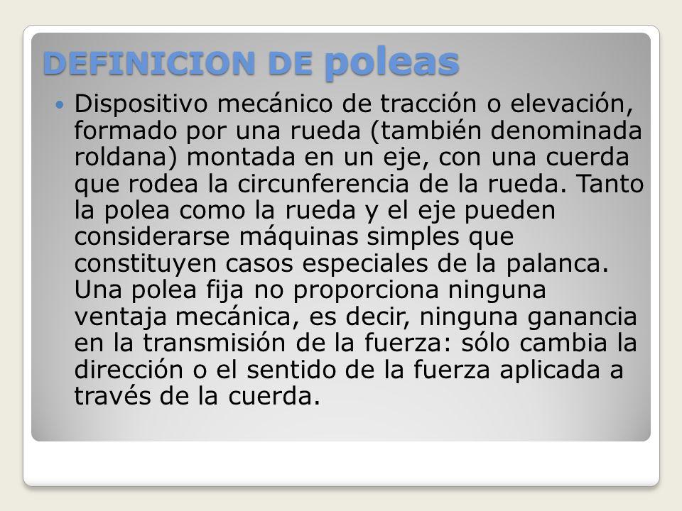 DEFINICION DE poleas