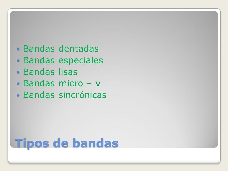 Tipos de bandas Bandas dentadas Bandas especiales Bandas lisas