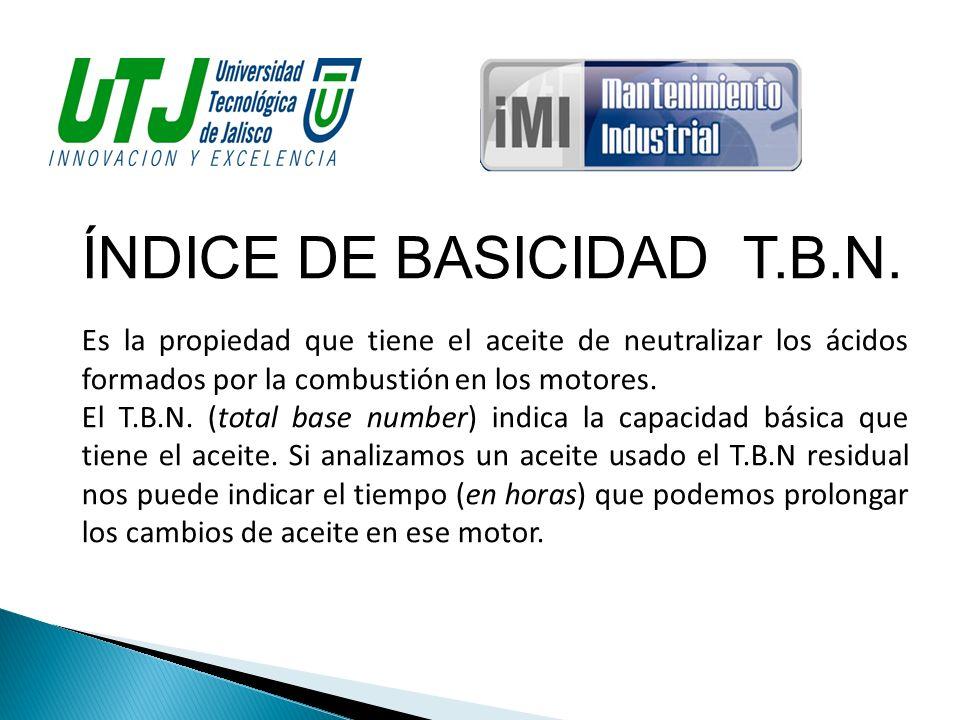 ÍNDICE DE BASICIDAD T.B.N.