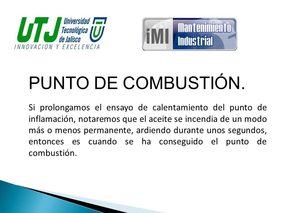PUNTO DE COMBUSTIÓN.