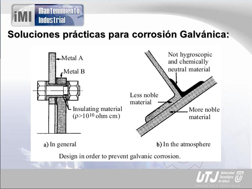 Soluciones prácticas para corrosión Galvánica:
