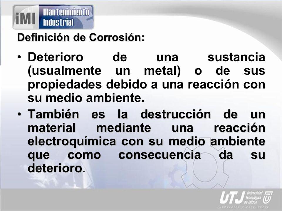 Definición de Corrosión: