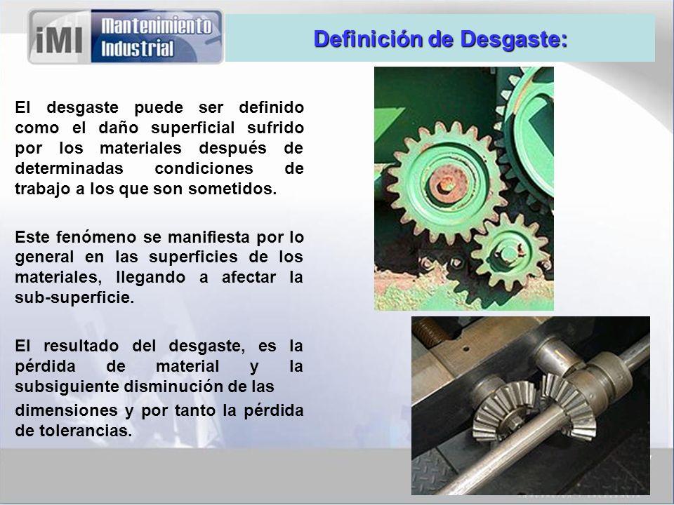 Definición de Desgaste: