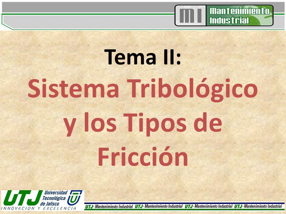 Tema II: Sistema Tribológico y los Tipos de Fricción
