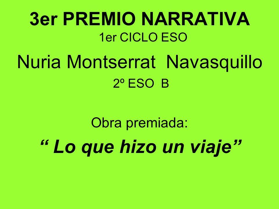 3er PREMIO NARRATIVA 1er CICLO ESO