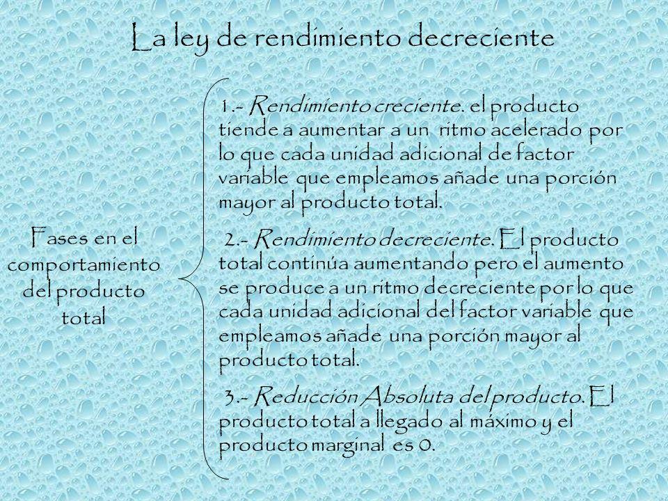 Fases en el comportamiento del producto total
