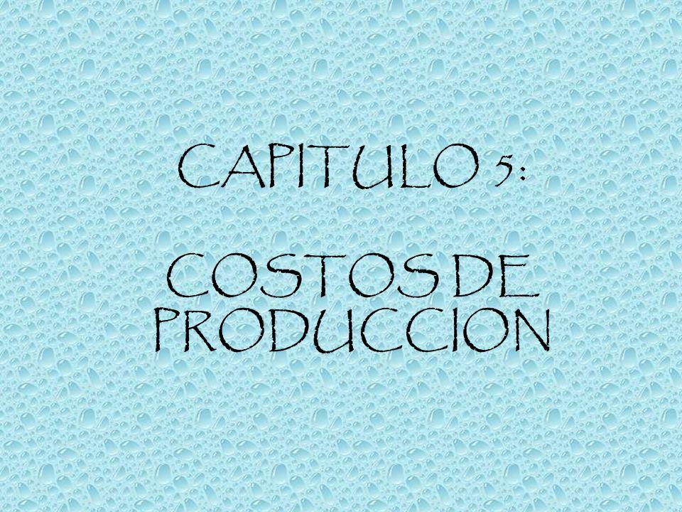 CAPITULO 5: COSTOS DE PRODUCCION