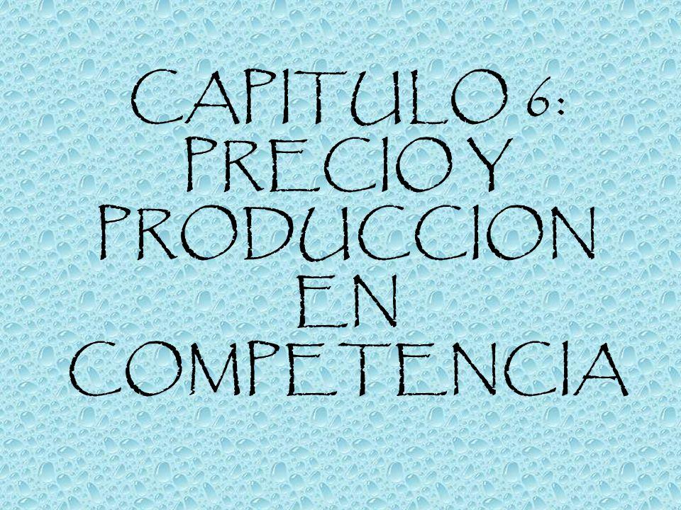 CAPITULO 6: PRECIO Y PRODUCCION EN COMPETENCIA