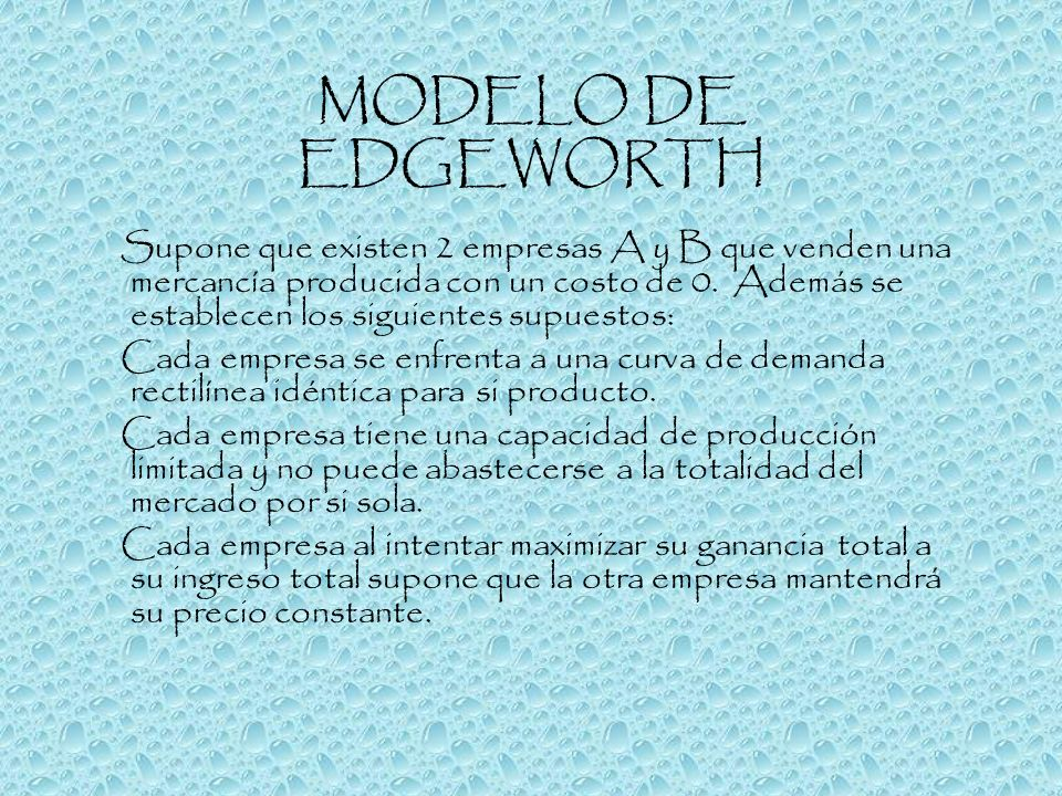 MODELO DE EDGEWORTH