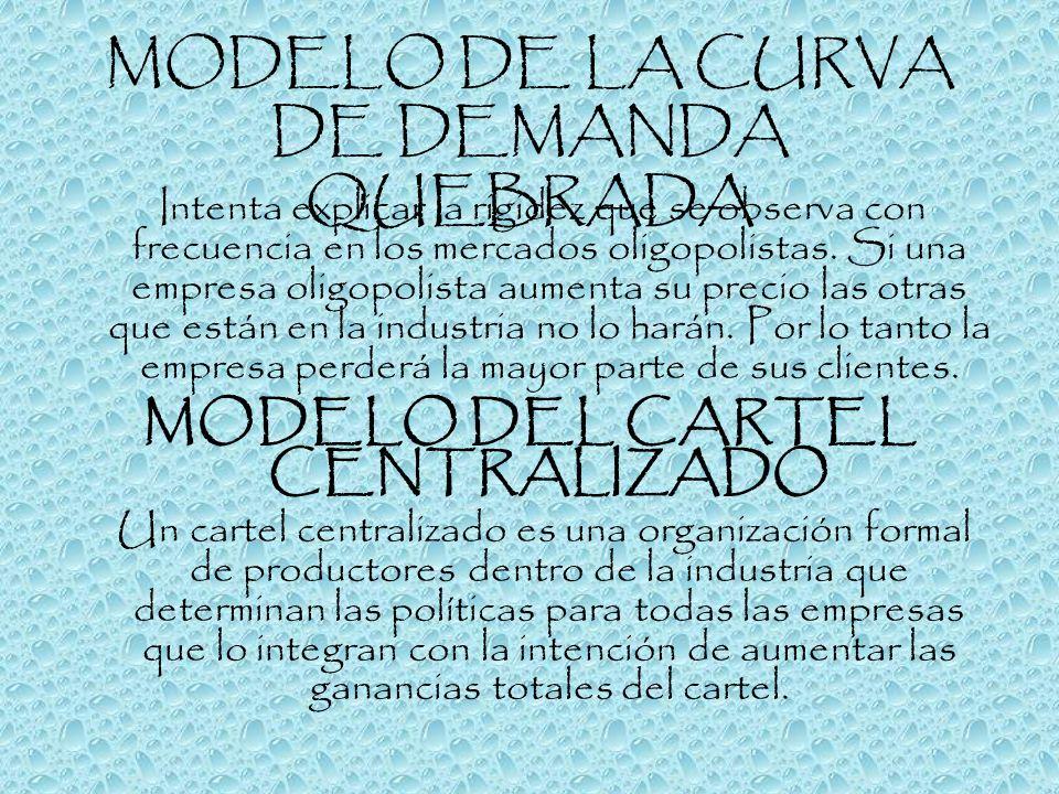 MODELO DE LA CURVA DE DEMANDA QUEBRADA