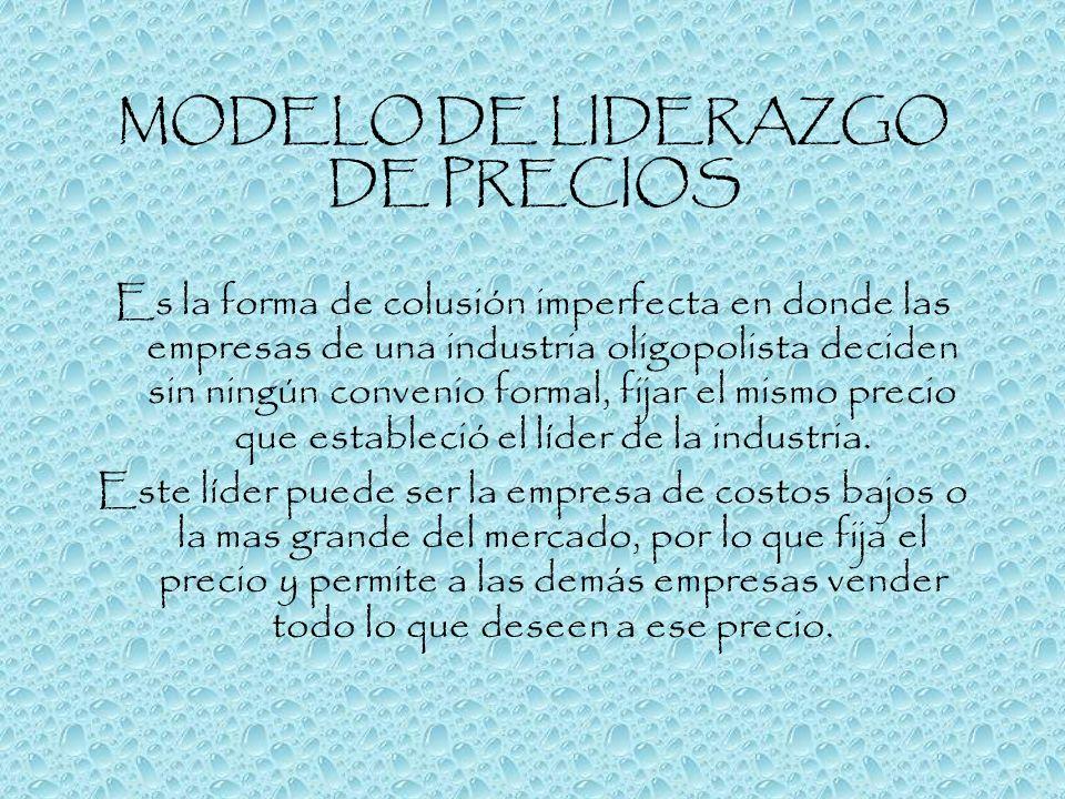 MODELO DE LIDERAZGO DE PRECIOS