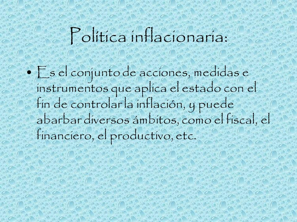 Política inflacionaria: