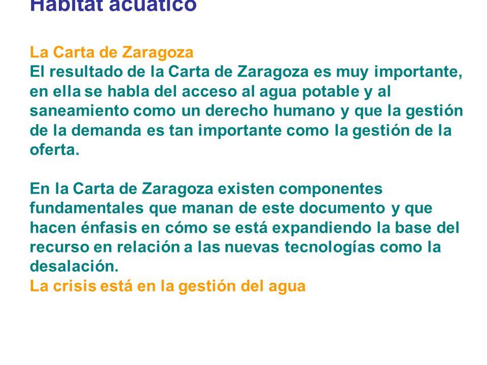 Hábitat acuático La Carta de Zaragoza