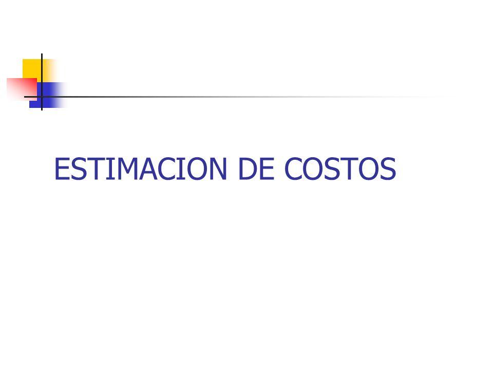 ESTIMACION DE COSTOS