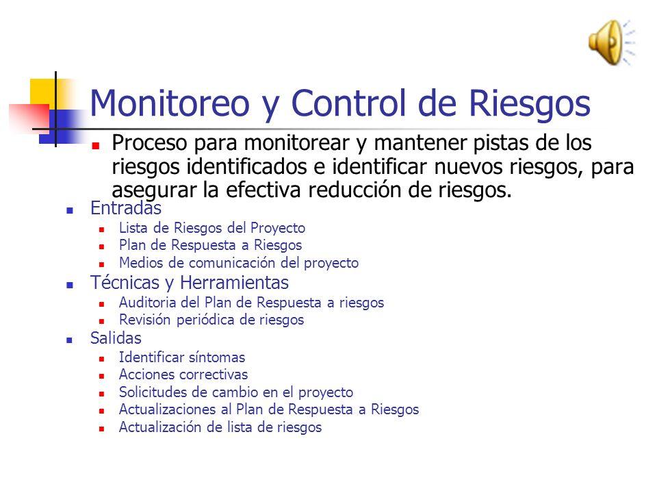 Monitoreo y Control de Riesgos