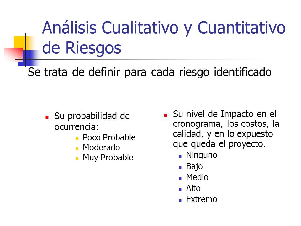 Análisis Cualitativo y Cuantitativo de Riesgos
