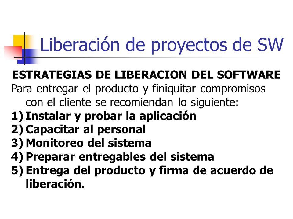 Liberación de proyectos de SW