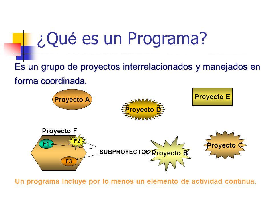 Un programa Incluye por lo menos un elemento de actividad continua.